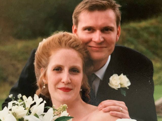 Faye and Gary's wedding day