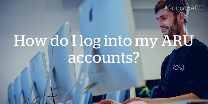 How do I log into my ARU accounts?