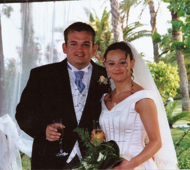 Meirion and Arantza on their wedding day