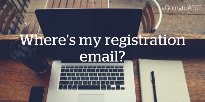 Where's my registration email?