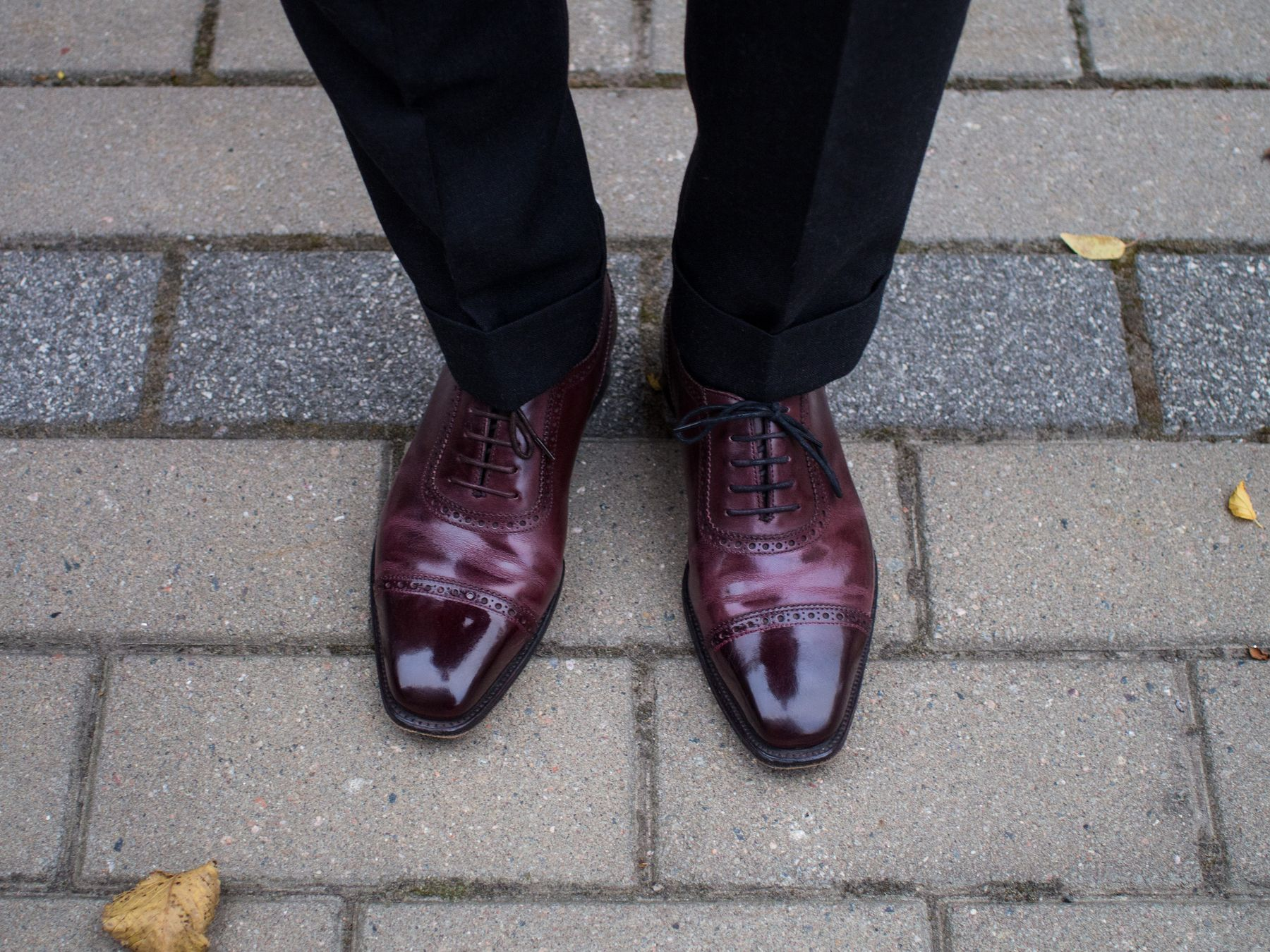 Combining a Grey Suit with Burgundy Shoes