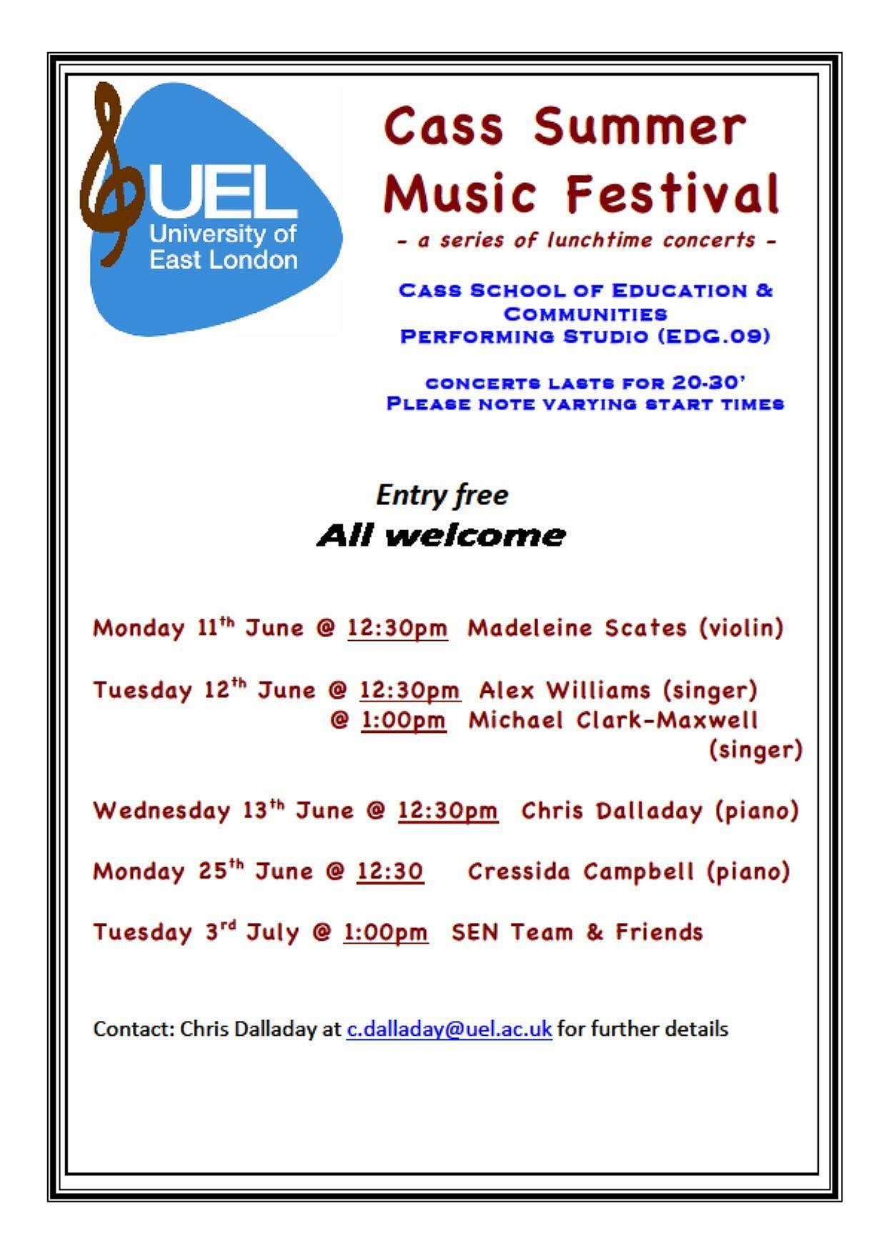 Cass Summer Music Festival