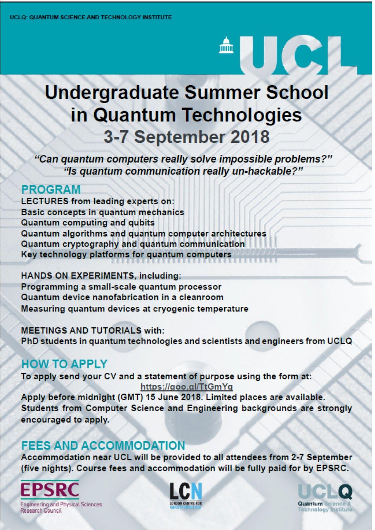 One-week computing summer school