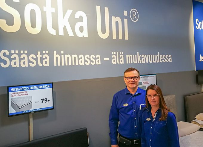 Rauman Sotkan yrittäjinä toimivat Ari ja Mari Raukko.