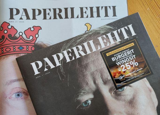 Rauman ikioma hyvän fiiliksen kaupunkimedia Paperilehti alkaa ilmestyä kuukausittain.