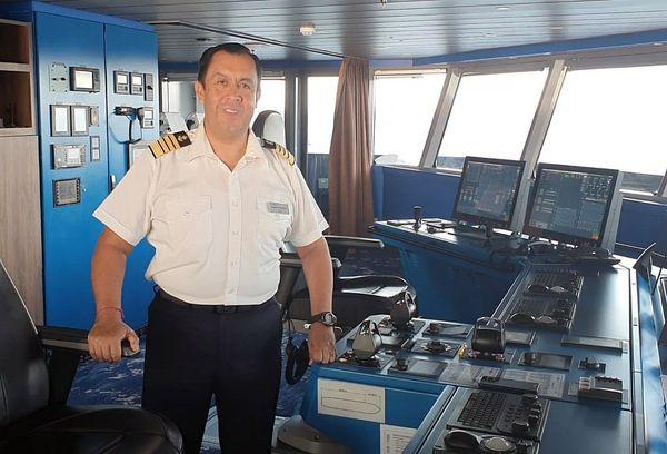 Vladimir Armas, the captain of Celebrity Flora