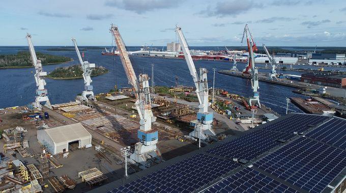Seaside Industry Parkin aurinkopaneelit.