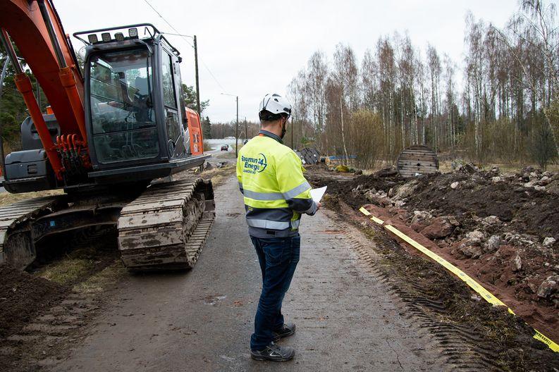 Petteri Ojanperä, Rauman Energia Sähköverkko Oy, Haapasaarentien työmaa