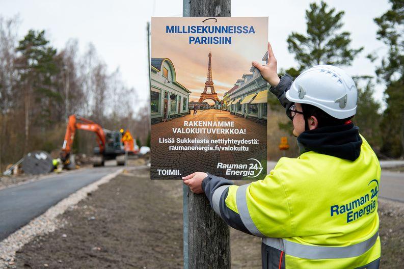 Sami Nylund, Rauman Energia, Sukkela-valokuidun työmaa.