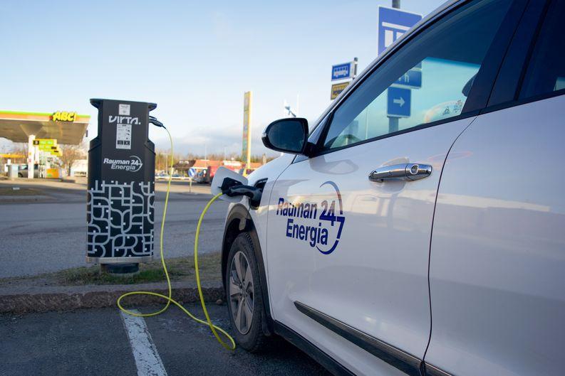 Sähköauton lataus, Rauma, Rauman Energia