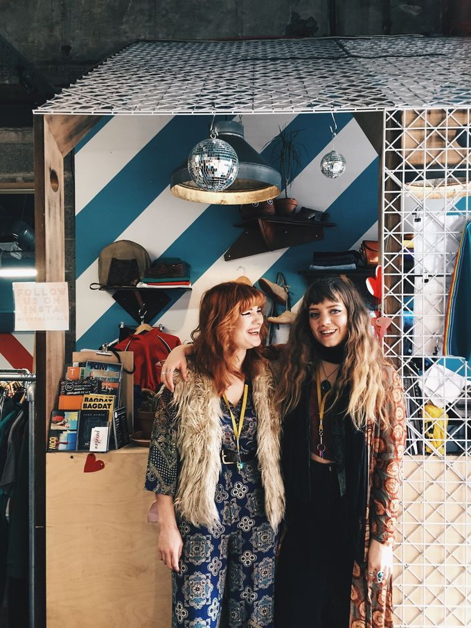 Emma (left) and Izzy (right) are here for all your vintage clothing needs