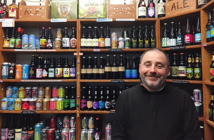 Co-owner Sean Clarke is living the dream running Beer Central in The Moor Market