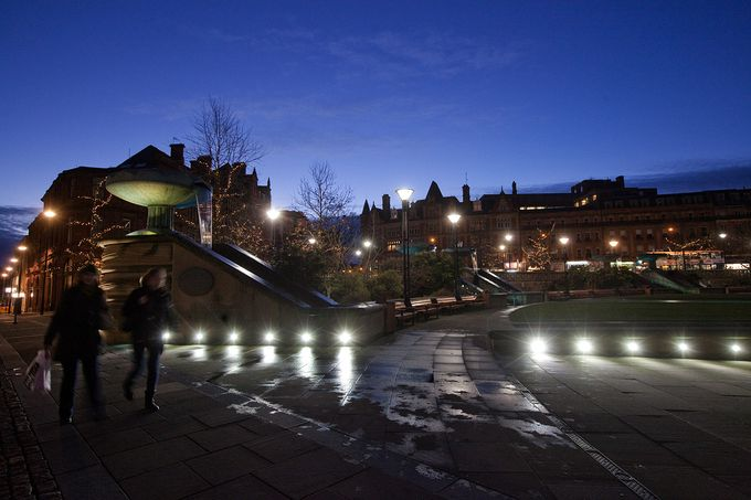 Sheffield's Peace Gardens will be home to the wellbeing zone during the Student Shopping Festival.