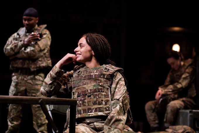Adiza Shardow as Private Sarah Findlay. Photo by Sam Taylor.