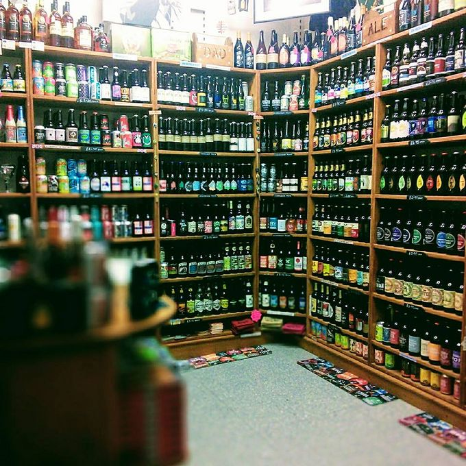 Find Beer Central in the Moor Market.