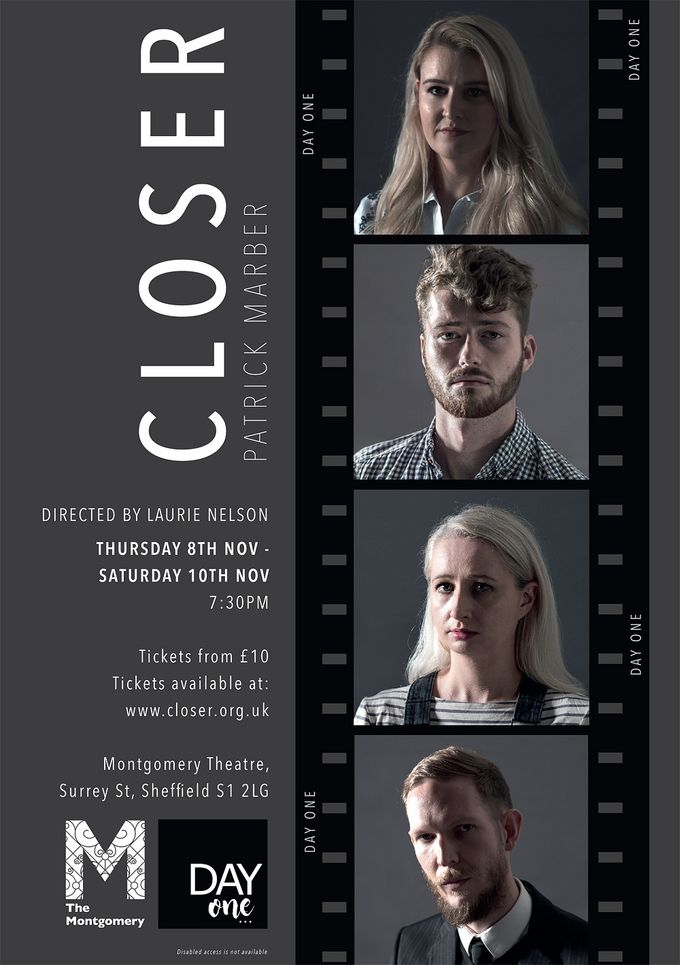 'Closer' shows at The Montgomery from 8-10 November.