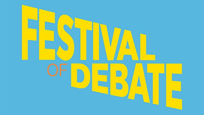Back for 2018: The Festival of Debate kicks off on 18 April and runs until 29 June