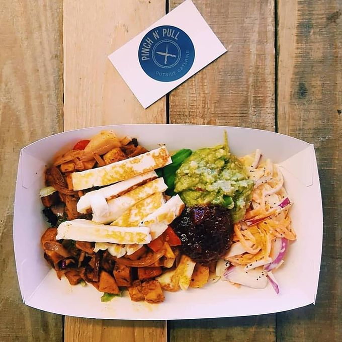 Try Pinch N' Pull's Mexican sweet potato box with halloumi and avocado next month