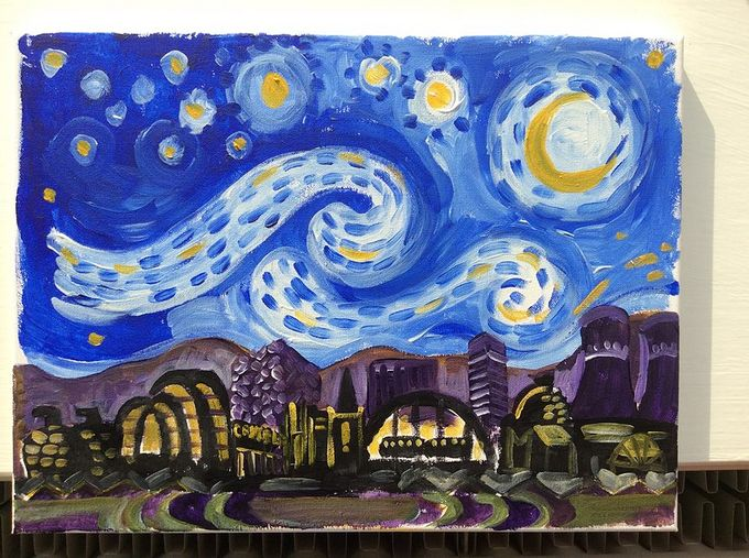 Create your own starry night with Painting the Town Red
