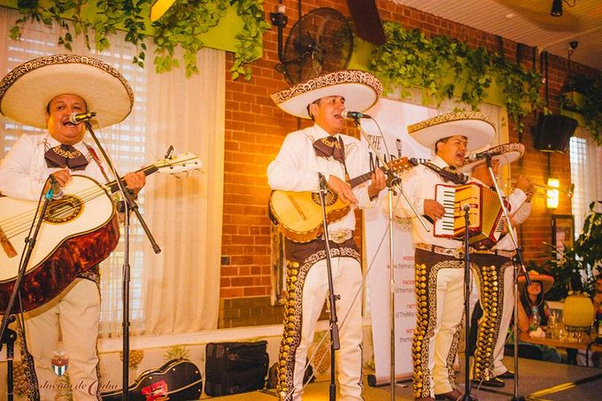 The Mariachis performing at Revolucion's Tramlines fringe