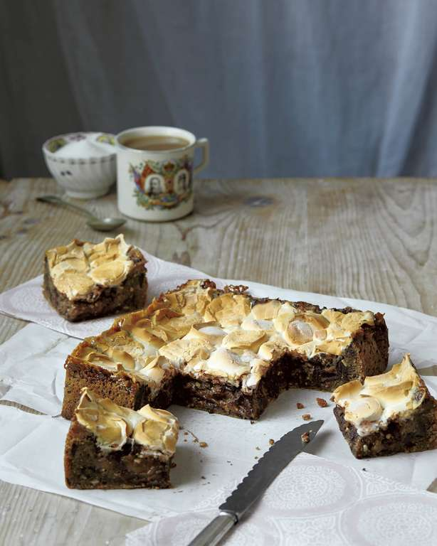 Peanut Butter and Marshmallow Blondies