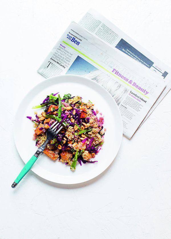 vegan satay salad