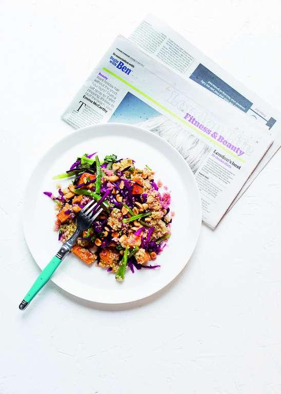 Crunchy Squash Satay Salad