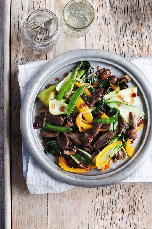 Duck Stir-Fry with Plum Sauce
