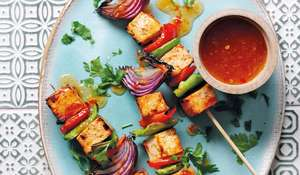 Tofu Kebabs with Sweet Chilli Sauce Recipe