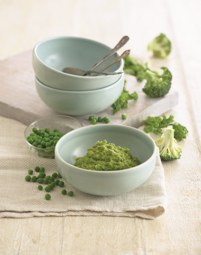 Butternut Squash, Pea, Broccoli and Kale Puree