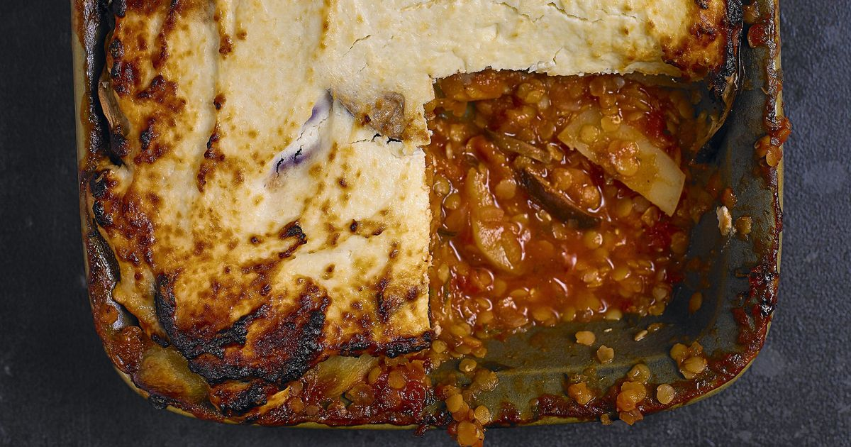 Red Lentil And Aubergine Moussaka Recipe Eat Well For Less Bbc 1