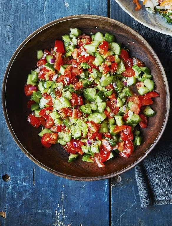Sanna Mirza's Salad Shirazi