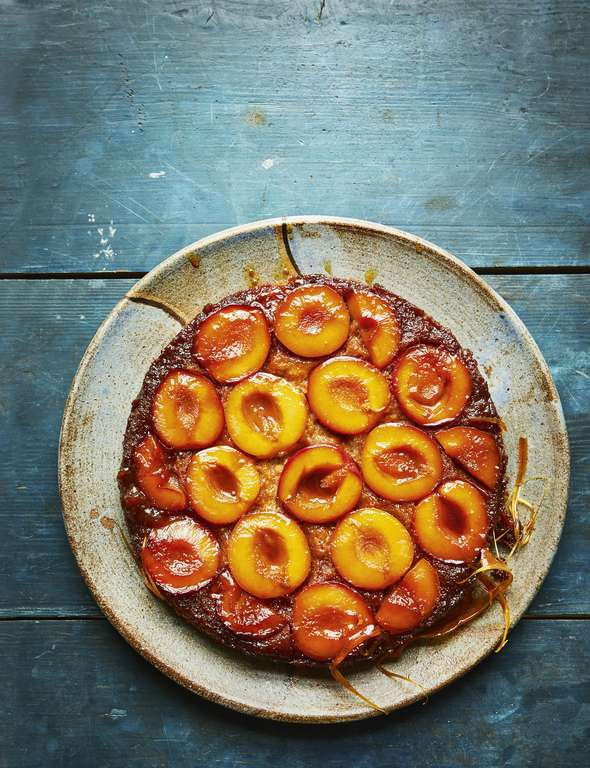 Faiza Hayani Bellili's Caramelised Plum Upside-Down Cake
