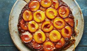 Caramelised Plum Upside-Down Cake | Together, Our Community Cookbook