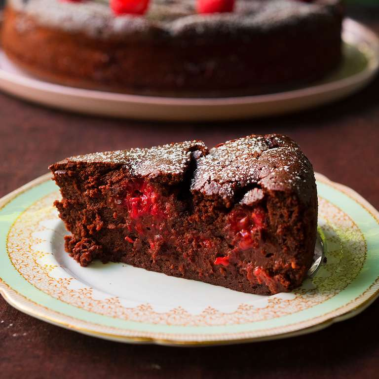 Nigella Lawson's Chocolate Raspberry Pudding Cake
