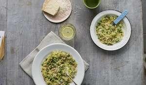 Pea Orzotto | Easy Vegetarian Pasta Recipe
