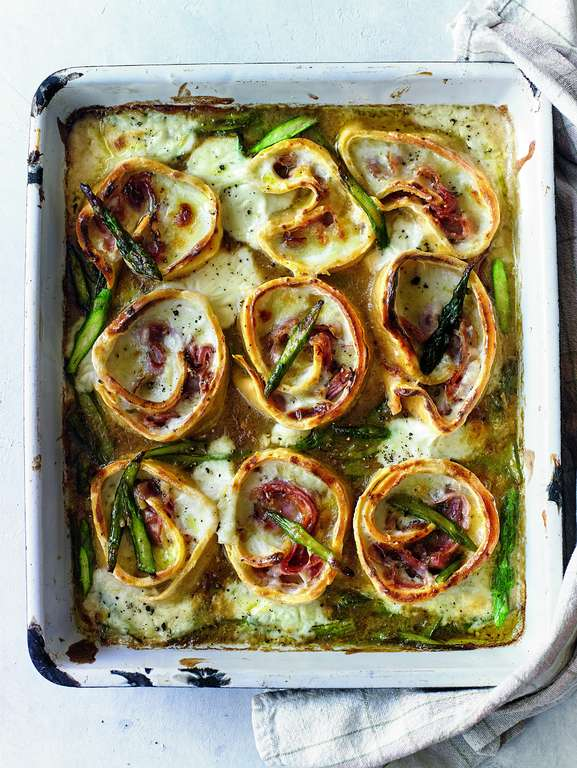Ham and Asparagus Pasta Nests (Rotolo)