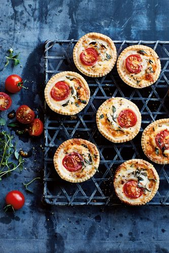 Mini Cheese and Tomato Tartlets by Annabel Karmel.