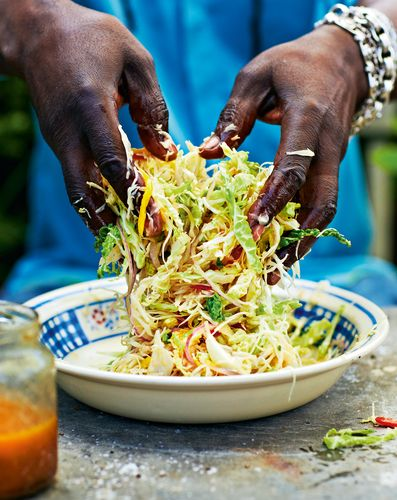 Hot and Fruity Caribbean Coleslaw