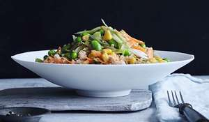 Quinoa and Edamame Salad with Honey and Ginger Dressing by Annabel Karmel