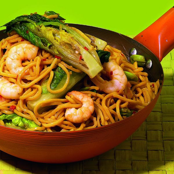 Prawn and little gem the happy foodie created by gok wan this chinese prawn stir fry noodle recipe is rustled up in minutes the deep flavours are then paired with the crunch of little gem ccuart Images