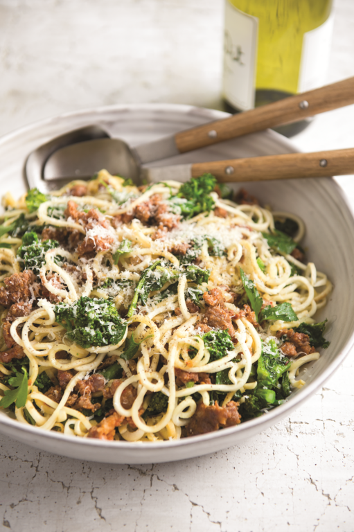 Broccoli Raab and Sausage Parsnip Pasta
