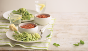 Courgetti with Fresh Tomato Sauce