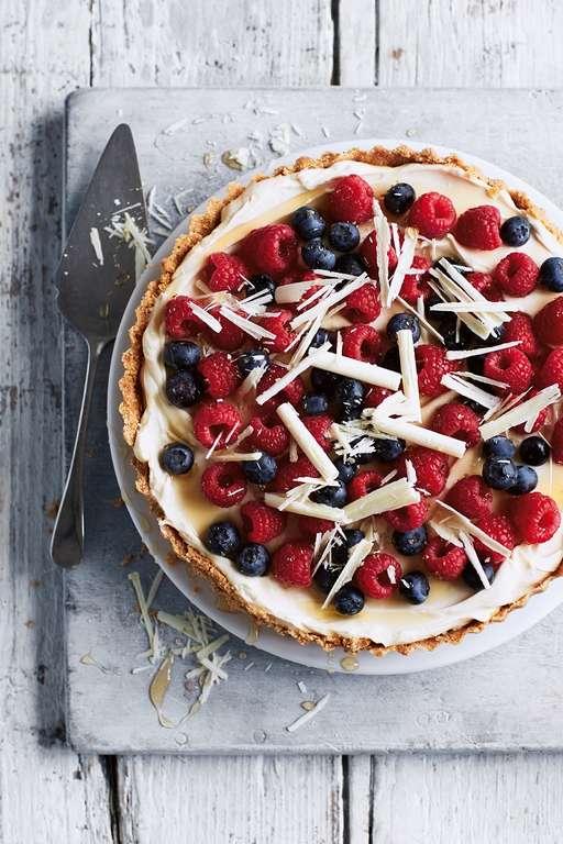 Berry and White Choc Tart