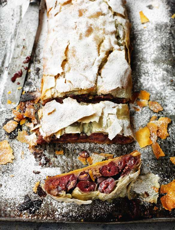 Croatian Sour Cherry Strudel