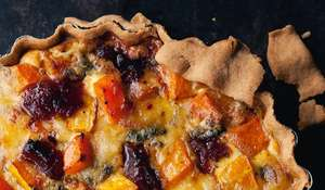 Membrillo and Stilton Quiche from Yotam Ottolenghi's Plenty More cookbook