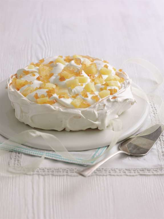 Pineapple and Ginger Pavlova