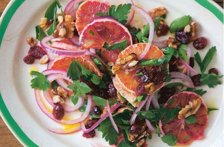 Orange, Cranberry & Walnut Salad from The Five O'Clock Apron cookbook