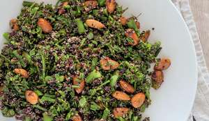 Black Quinoa and Broccolini Salad