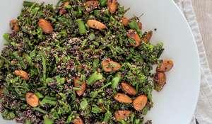 Black Quinoa and Broccolini Salad